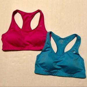 C9 Champion Sports Bra Bundle Blue/Pink Size Large